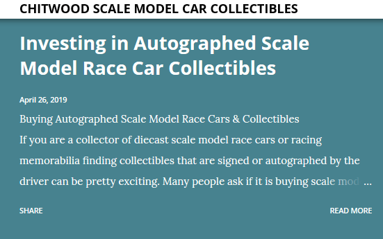 buy scale model race cars